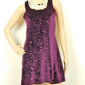Stretch Velvet Fit n Flare Sleeveless Dress Junior